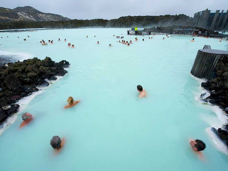 Kids in the blue lagoon