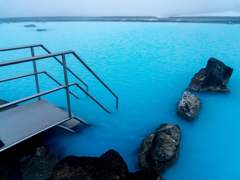 Step straight into the lovely blue water