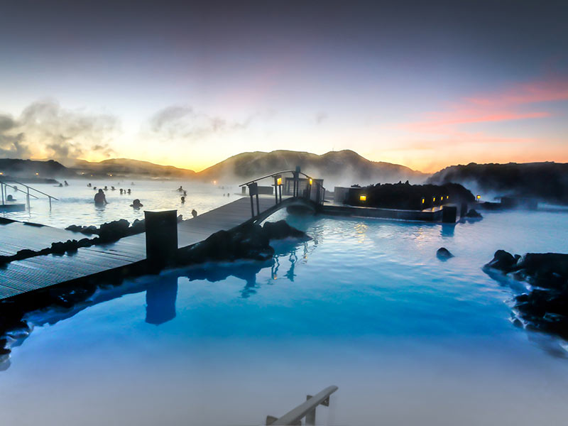 The Blue Lagoon in Iceland in the afternoon