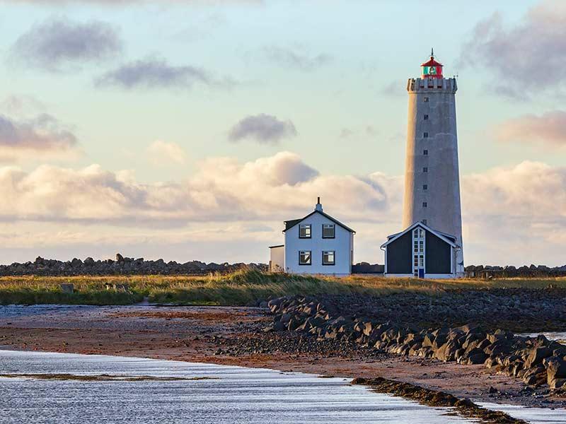 Grotta lighthouse in Daylight