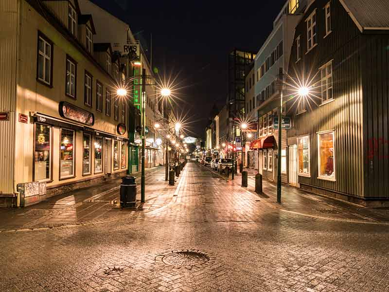 Reykjavik Streets at Night