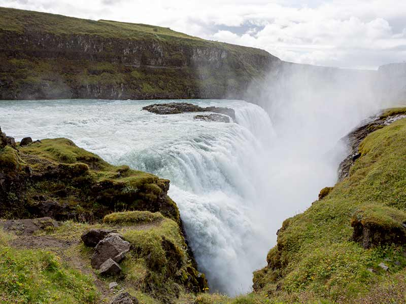 Gullfoss Iceland Waterfall on the Golden Circle