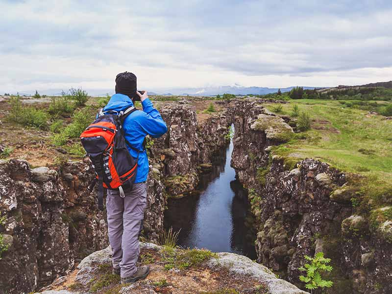 beautiful landscape in Iceland national park