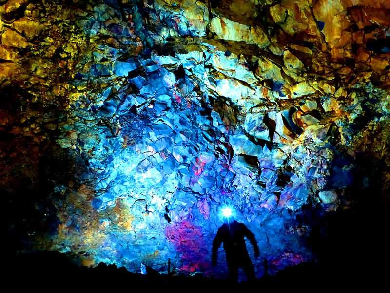 Inside the Cave of Volcano 'Thrihnukagigur'