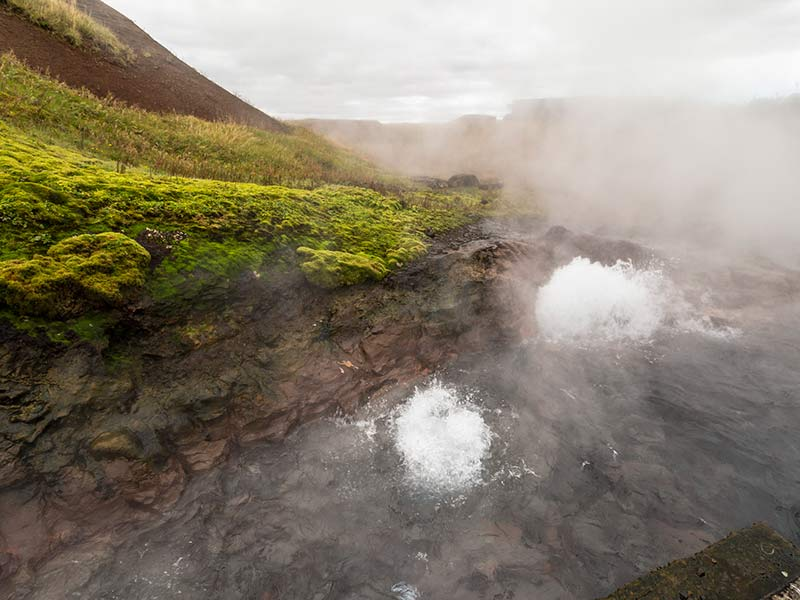 Deildartunguhver hot nature steams in iceland