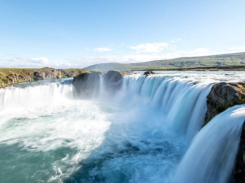 Godafoss Waterfall near the iceland ring road