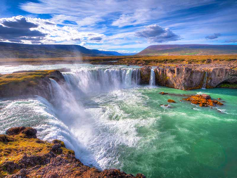 Godafoss waterfall, north of Iceland
