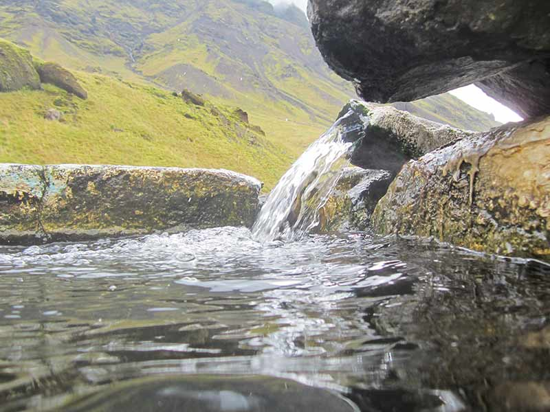 Seljavallalaug hot spring, in southern Iceland near the Ring Road
