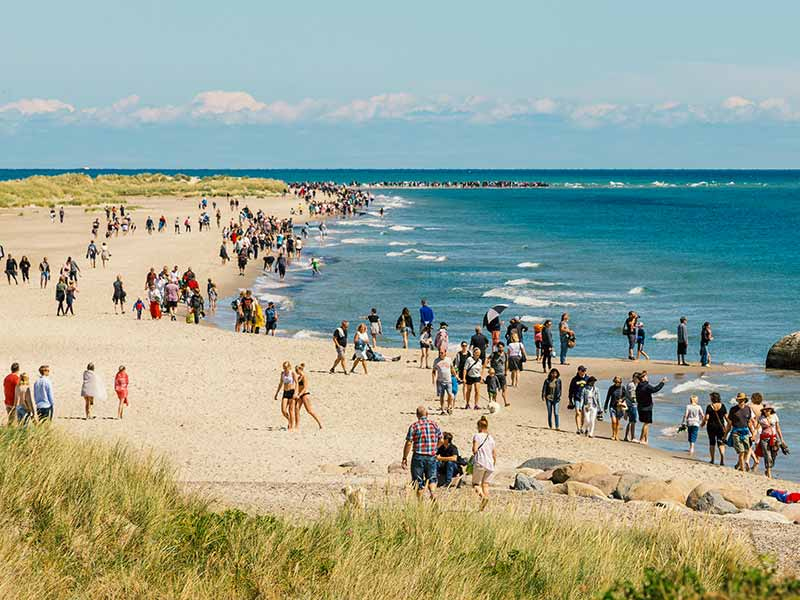 Skagen, the northernmost tip of Denmark