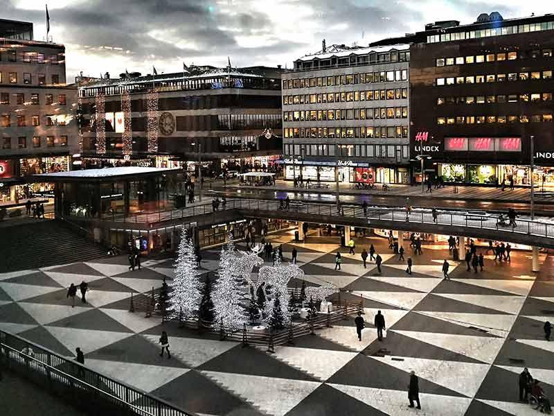 Christmas capture of Sergels torg, Stockholm, Sweden