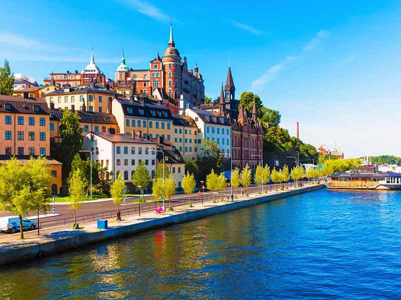 Södermalm in Stockholm, Sweden.