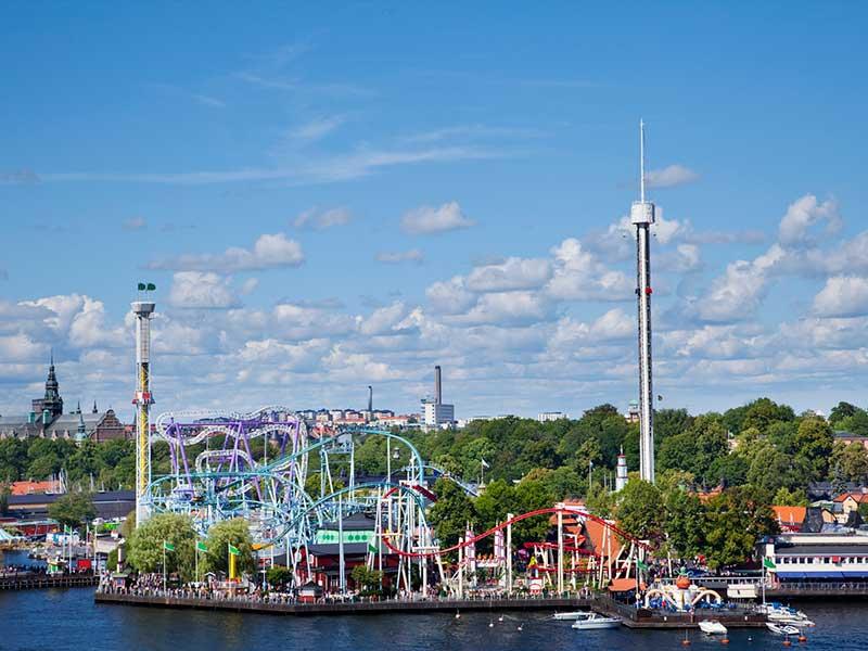 Gröna Lund amusement park in Stockholm Sweden.