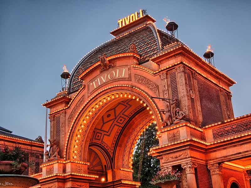 Picture taken by the entrance to the Tivoli Garden