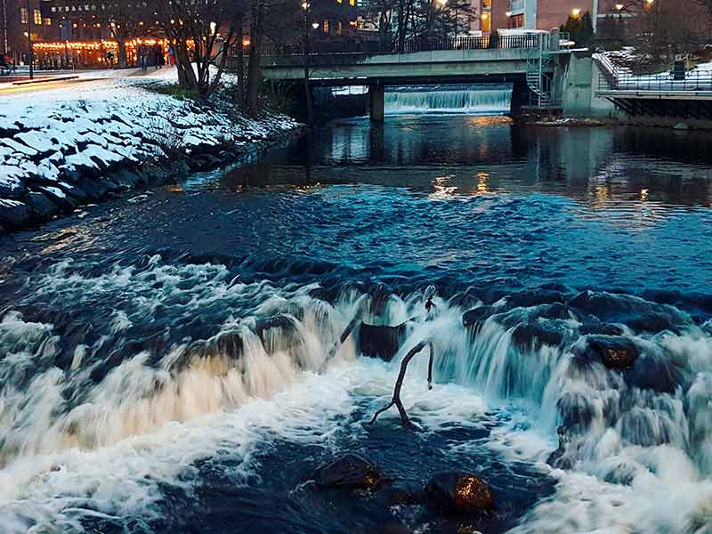 Akerselva river in Nydalen, Oslo