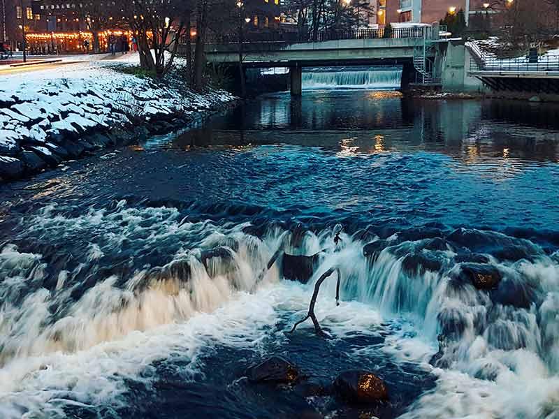 Akerselva river in Nydalen, Oslo