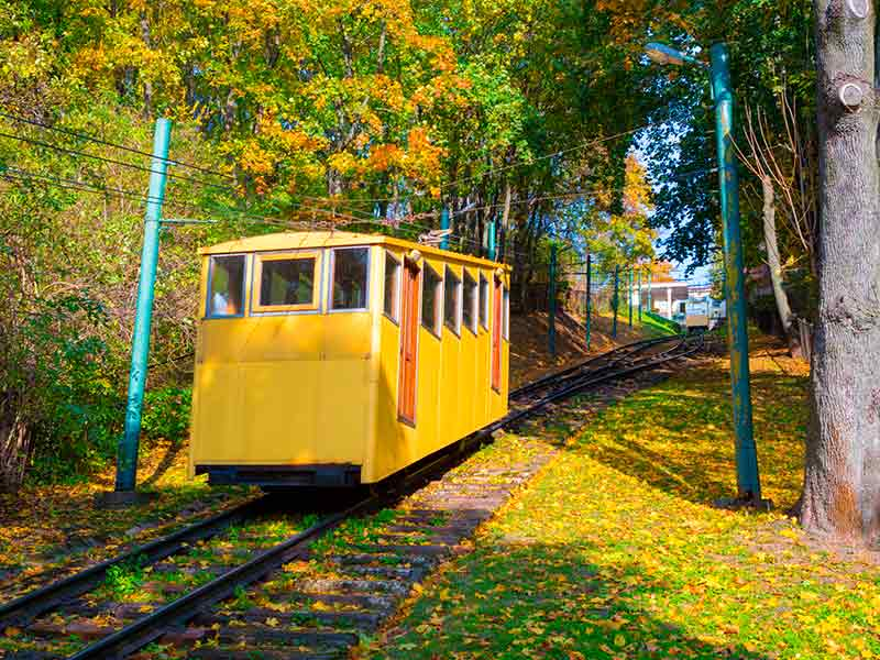 Funicular Railway in Kaunas, Lithuania.