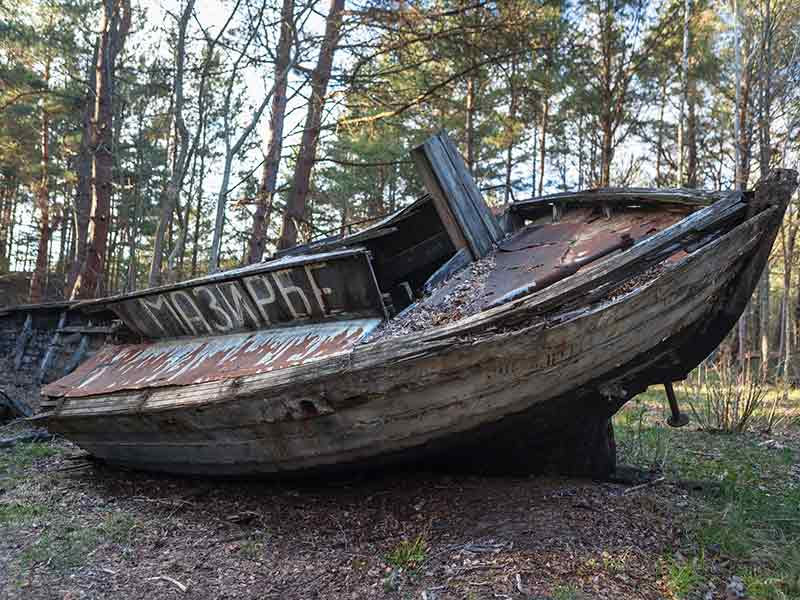 A graveyard for old fishing boats in Mazirbe, Latvia..