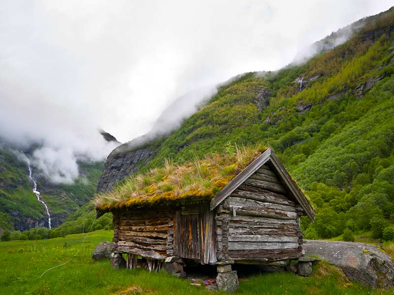 old historic house in Norway