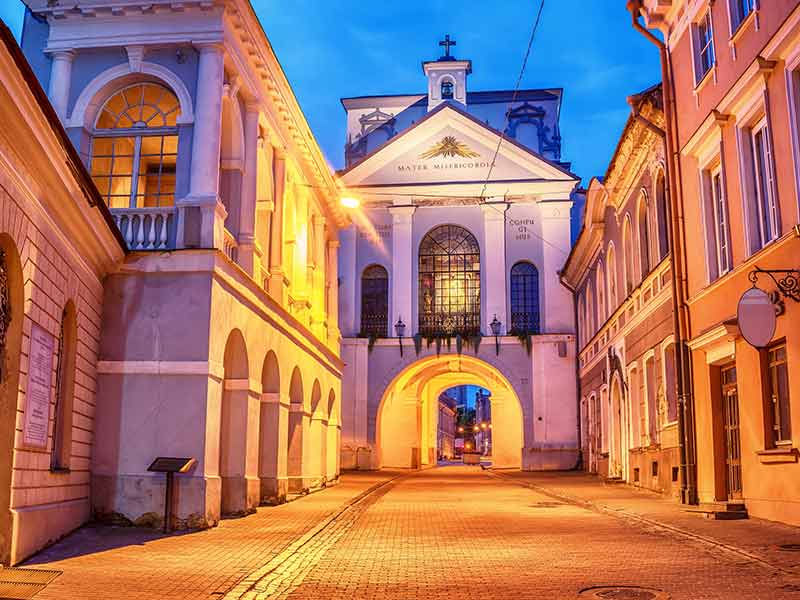 The Gate of Dawn, a city gate of Vilnius, Lithuania.