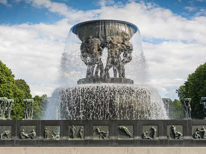 Gustav Vigeland Sculpture park in Oslo, Norway.